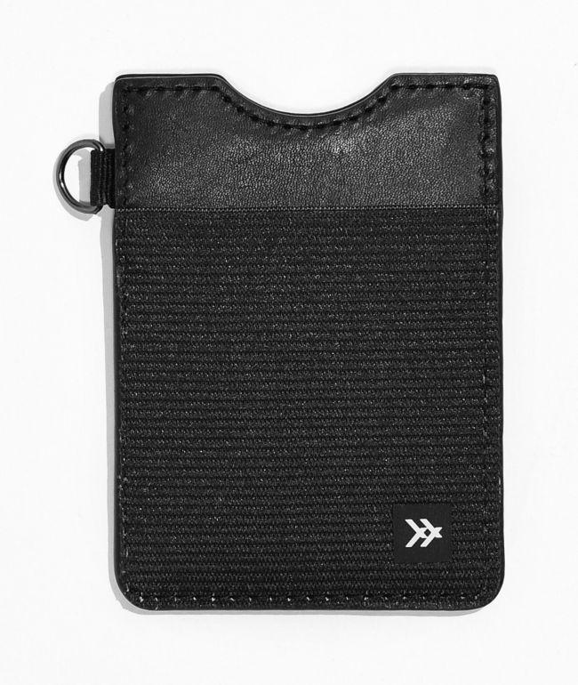 Thread Vertical Black Cardholder Wallet