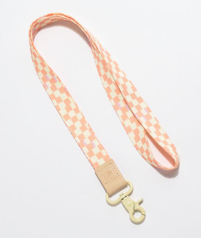 Thread Vienne Pink & White Checkerboard Lanyard