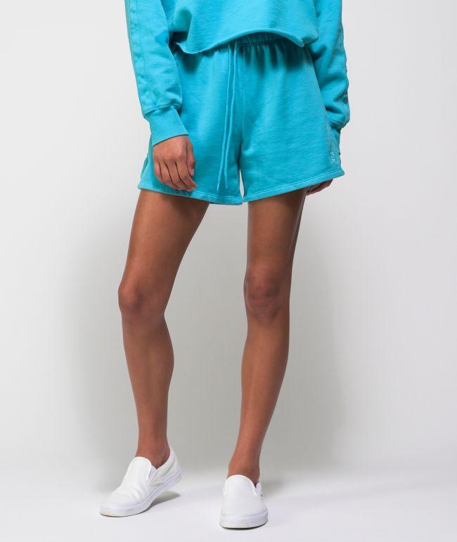 Tommy Hilfiger Roll Down Scuba Blue Wash Sweat Shorts