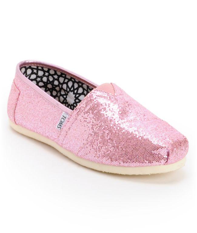 Toms Classics Canvas Pink Glitter