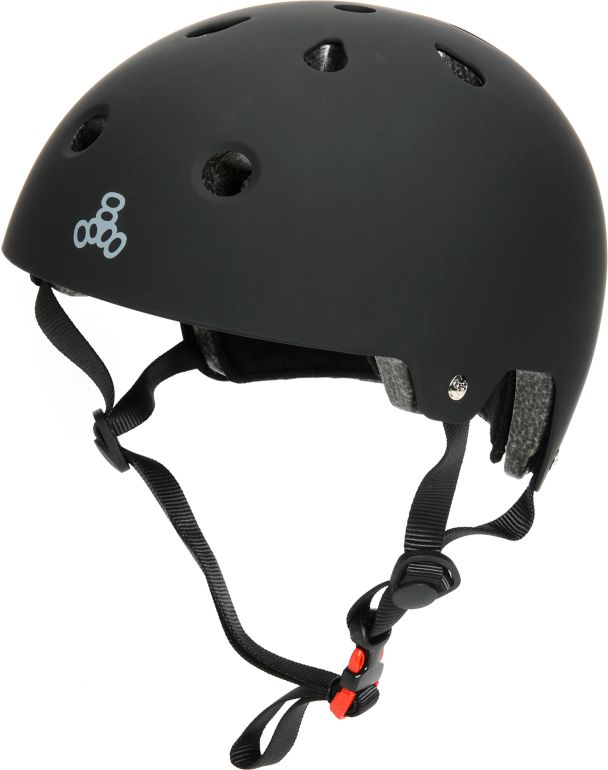 Triple Eight CPSC casco de skate de gaucho negro