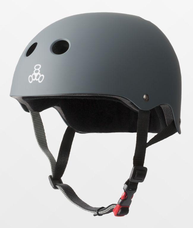 Triple Eight Certified Sweatsaver Carbon Grey Multi-Sport Helmet