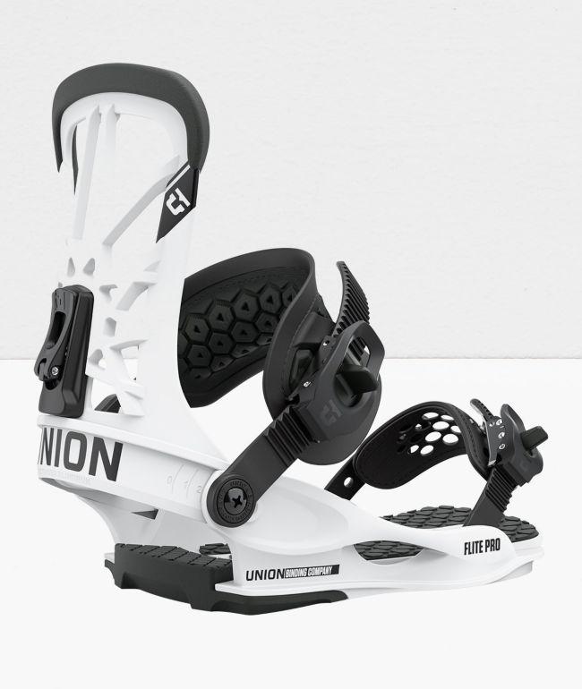 Union Flite Pro White Snowboard Bindings 2021