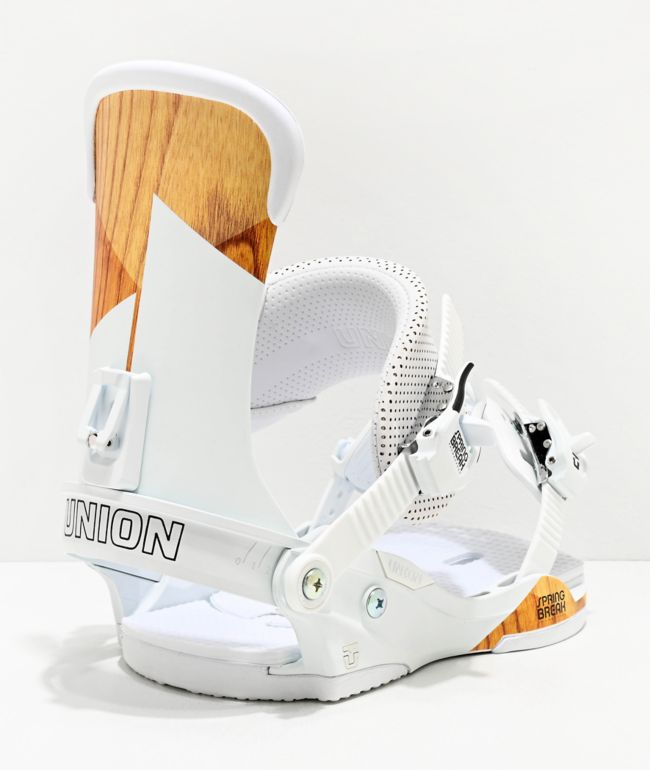Union Force White Snowboard Bindings 2020