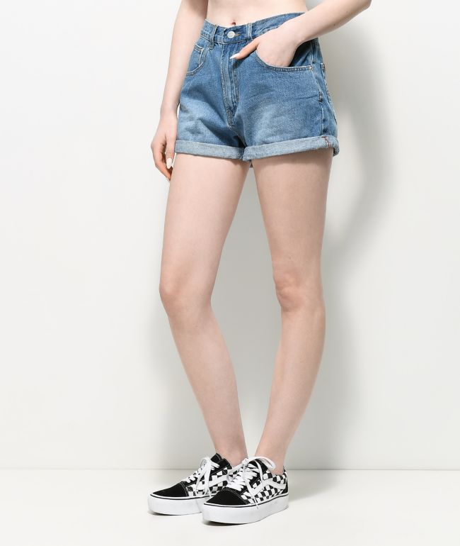 Unionbay Back Tab shorts de mezclilla con lavado medio