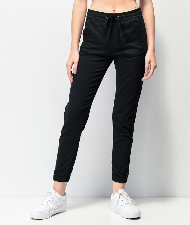 Unionbay Caylee Black Sateen Jogger Pants