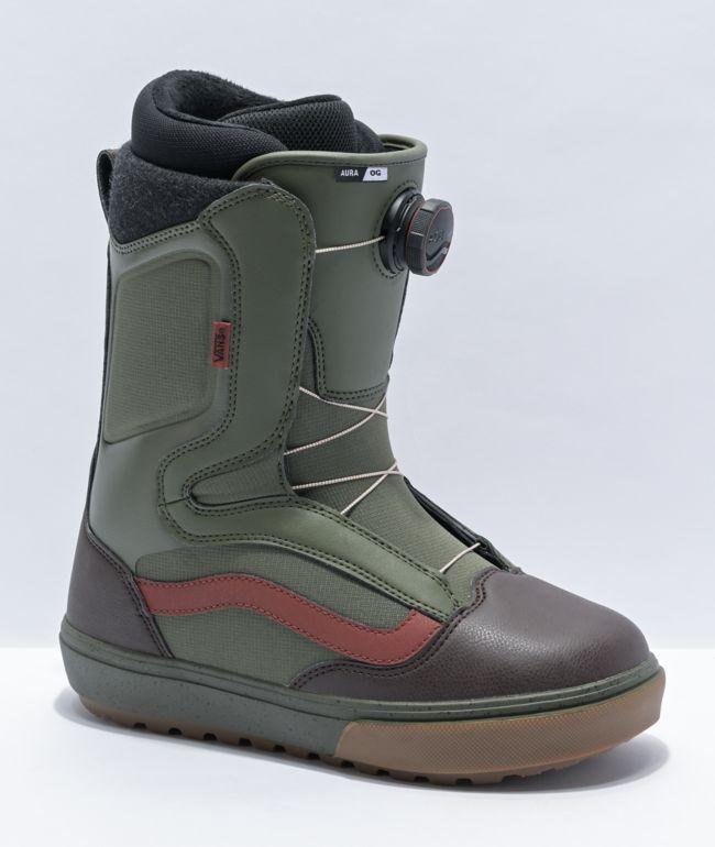 Vans Aura Pro OG Grape Leaf Snowboard Boots 2021