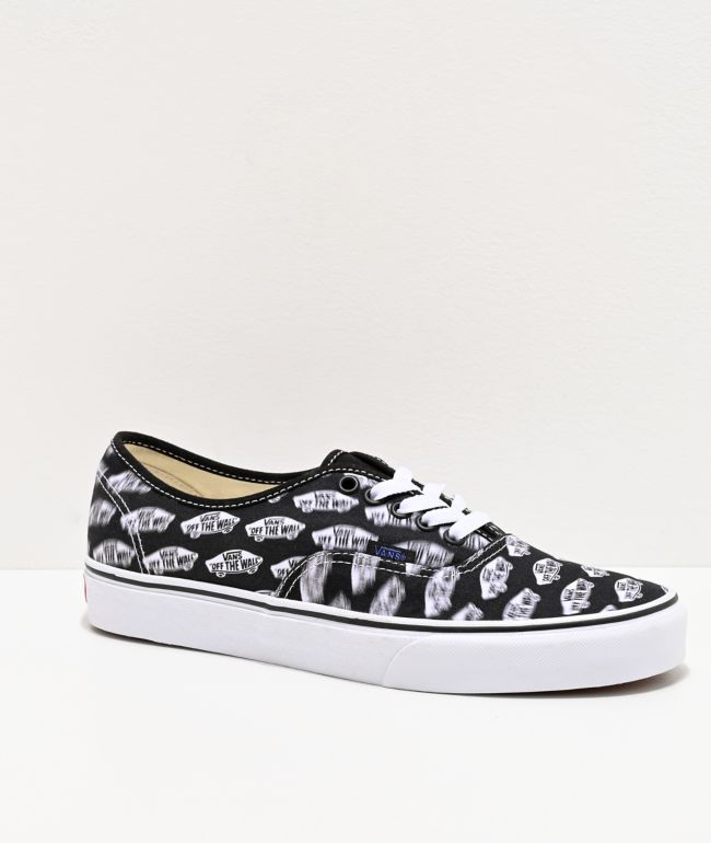 Vans Authentic Blur Boards Black & White Skate Shoes