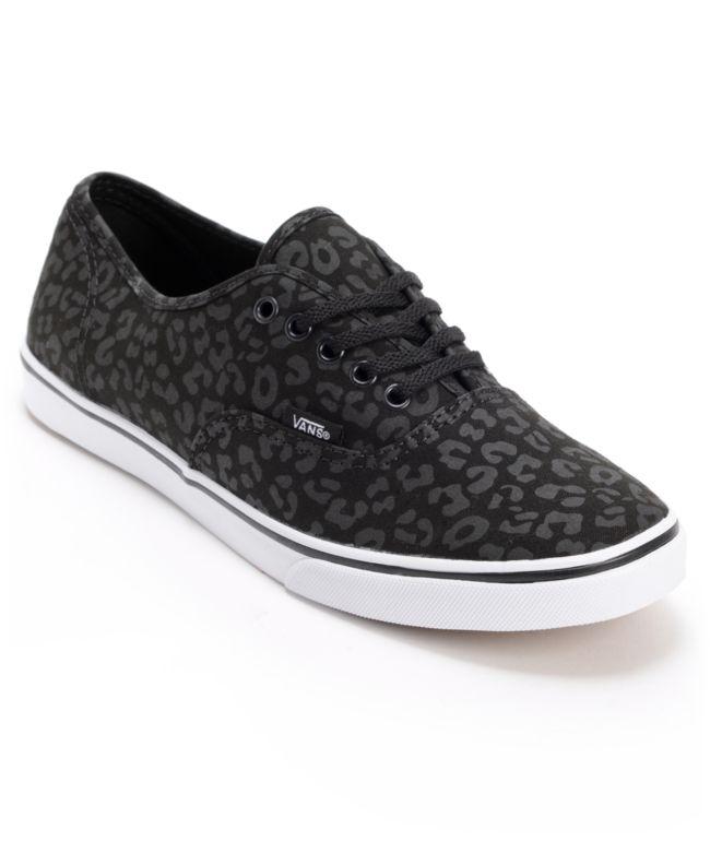 Vans Authentic Lo Pro Black Leopard