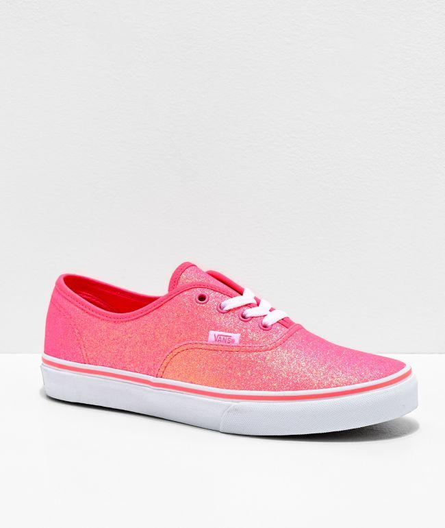 Vans Authentic Neon Glitter Skate Shoes