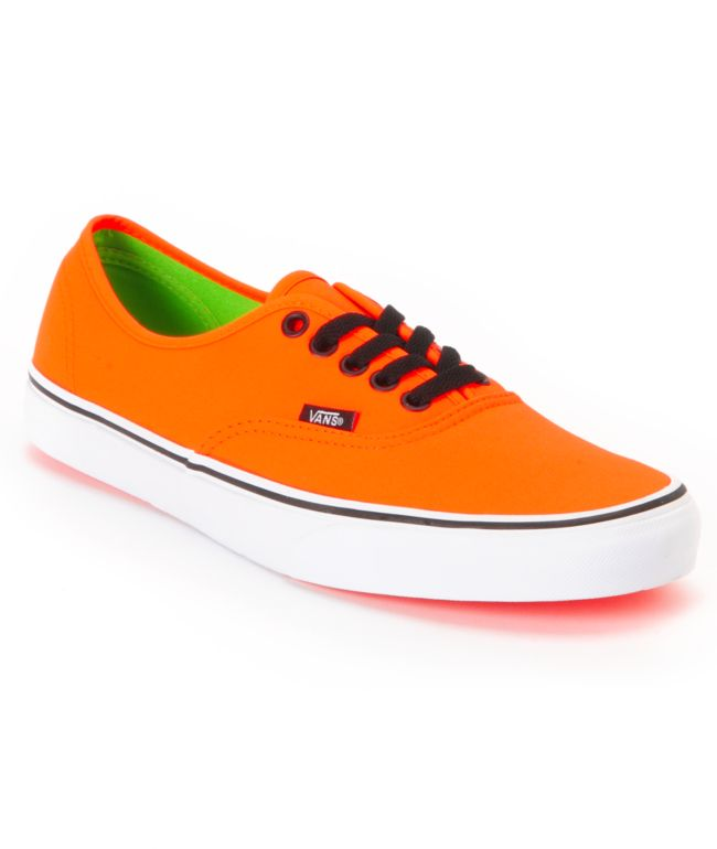 Vans Authentic Neon Orange \u0026 Green