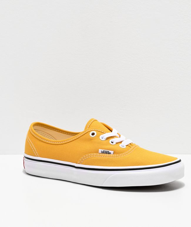 Vans Authentic Ochre & True White Skate Shoes