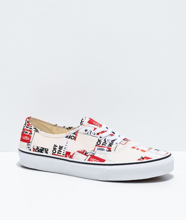 Vans Authentic Packing Tape White Skate Shoes