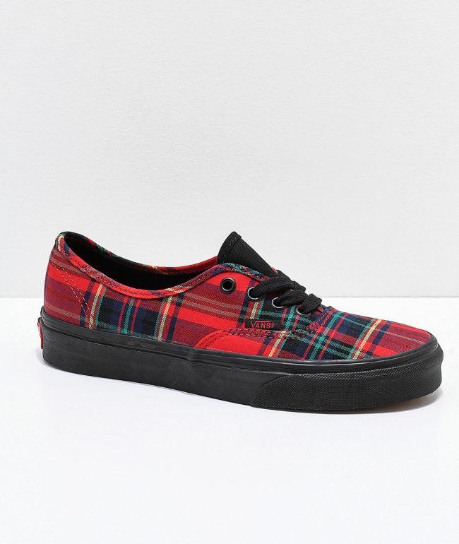 Vans Authentic Red Plaid Mix Skate