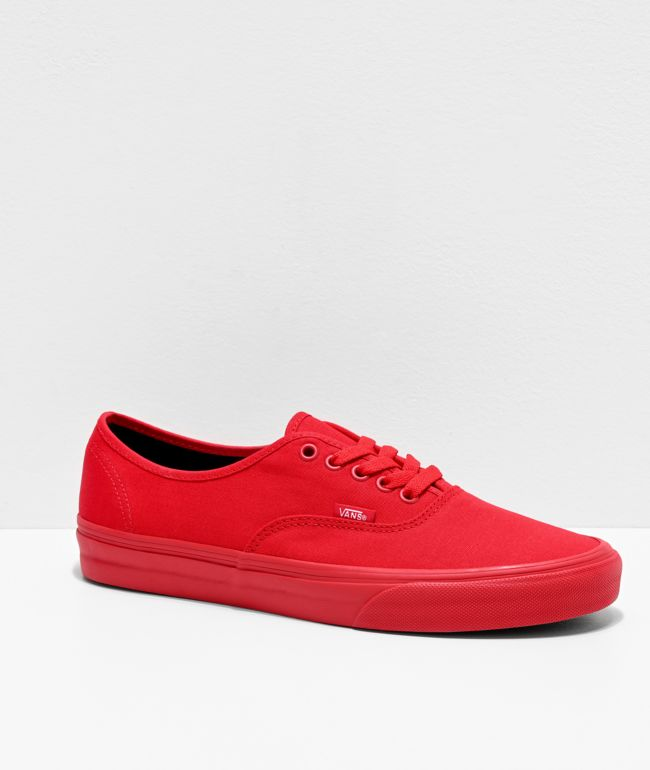 Vans Authentic True Red & Black Skate Shoes