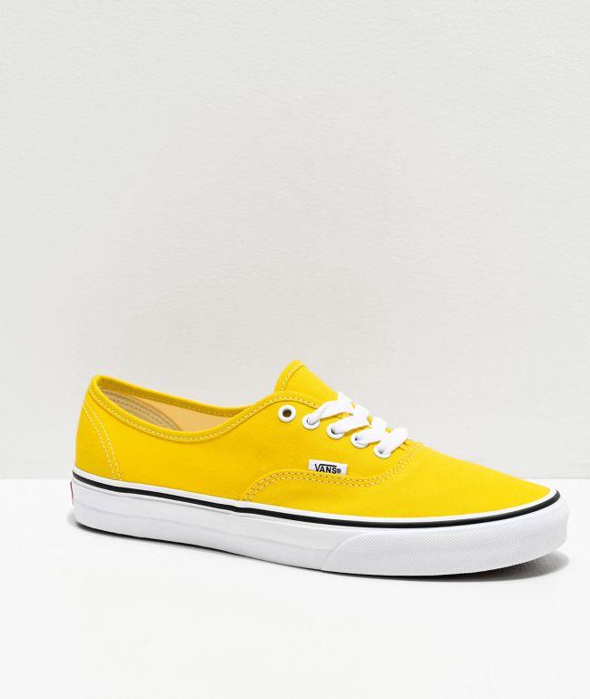 Vans Authentic Vibrant Yellow & White Skate Shoes