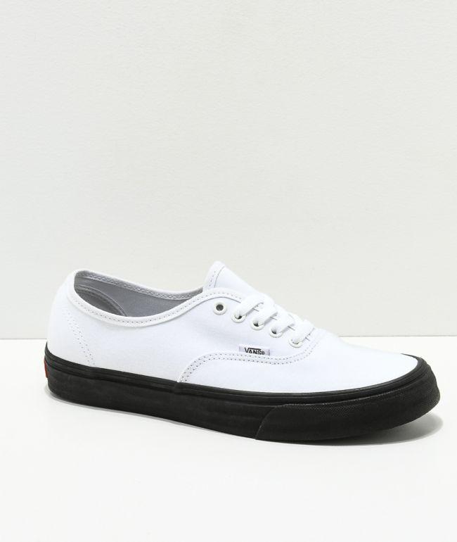 Vans Authentic White \u0026 Black Sole Skate