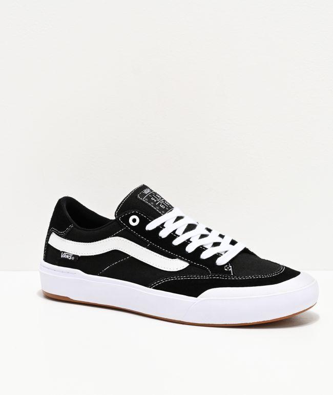 Vans Berle Pro Black & True White Skate Shoes