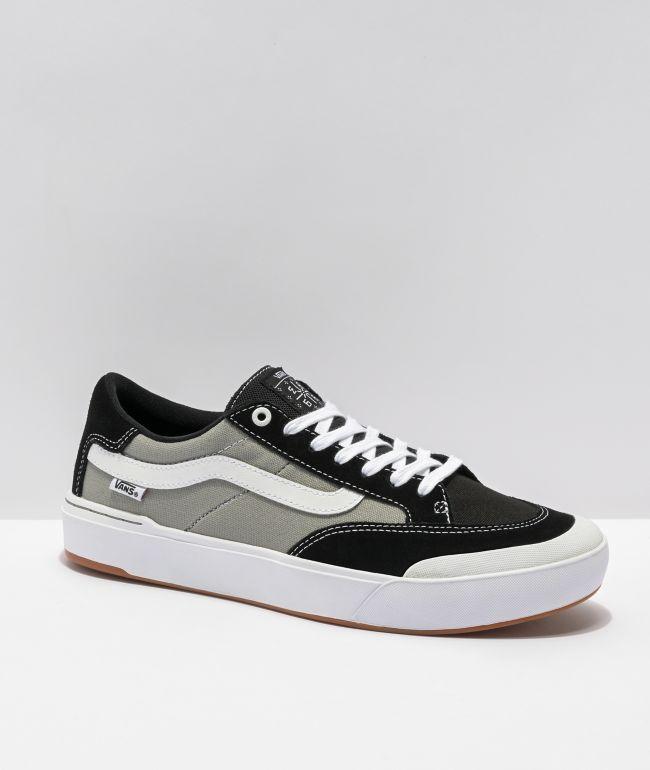 Vans Berle Pro Nation Black & Silver Skate Shoes