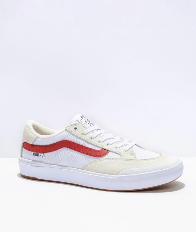Vans Berle Pro White & Chili Pepper Skate Shoes