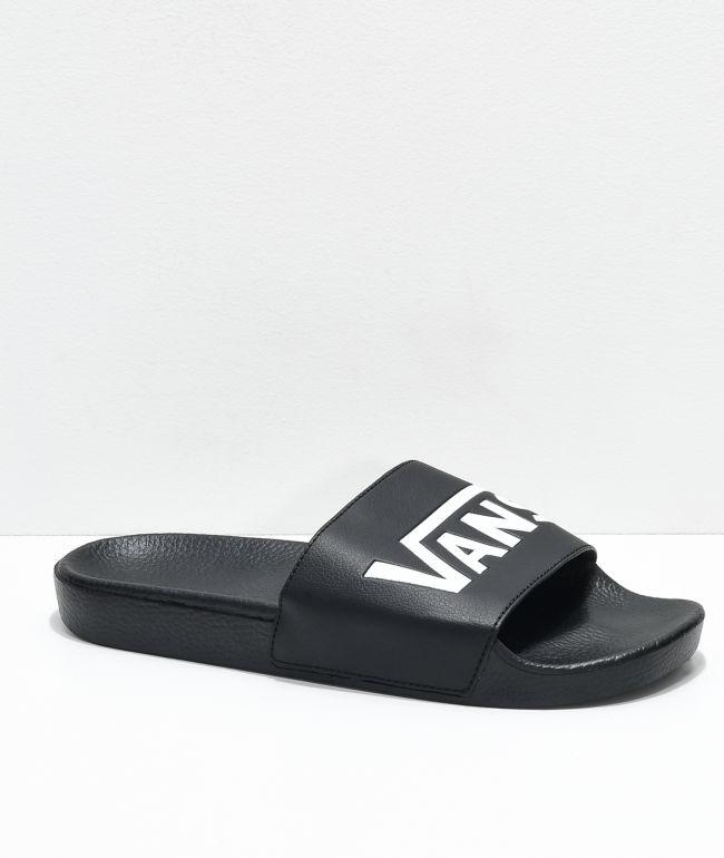 Vans Black \u0026 White Slide On Sandals