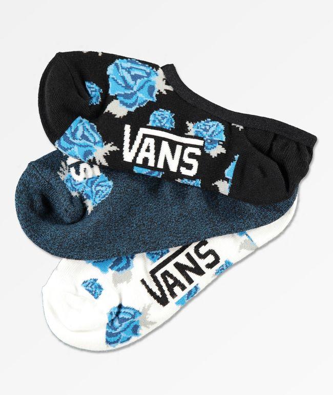 Vans Blooms Canoodle paquete de 3 calcetines invisibles