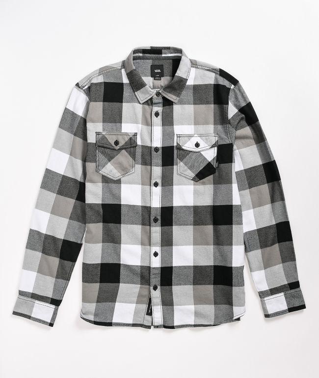 Vans Box Black & Frost Grey Flannel Shirt