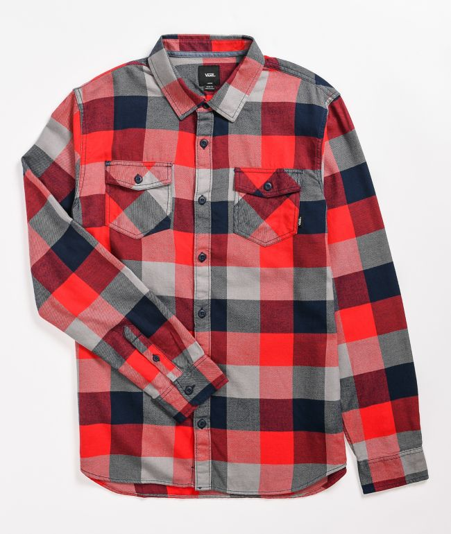 Vans Box Red & Black Flannel Shirt