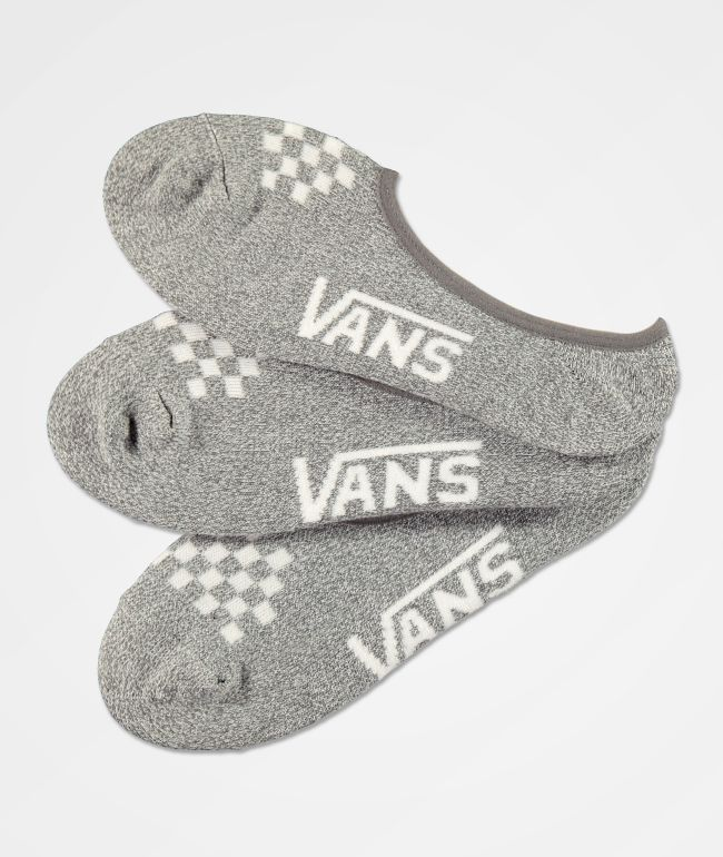 Vans Canoodle Heather Grey 3 Pack No Show Socks