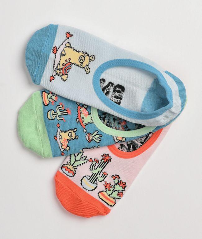 Vans Canoodle Llama Lover 3 Pack No Show Socks