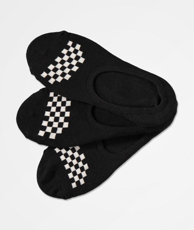 Vans Canoodle paquete de 3 calcetines negros invisibles