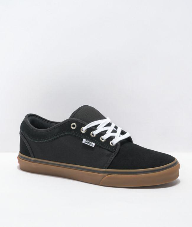 Minero Pais de Ciudadania Sustancial  Vans Chukka Low Pro Black & Gum Skate Shoes | Zumiez