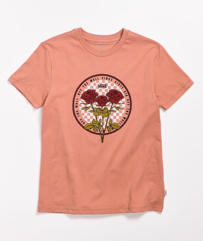 Vans Circle Check Rose Boyfriend T-Shirt