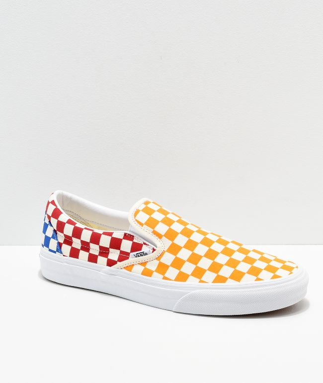Vans Classic Slip On Checkerboard Red