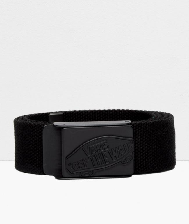 Vans Conductor cinturón negro tejido