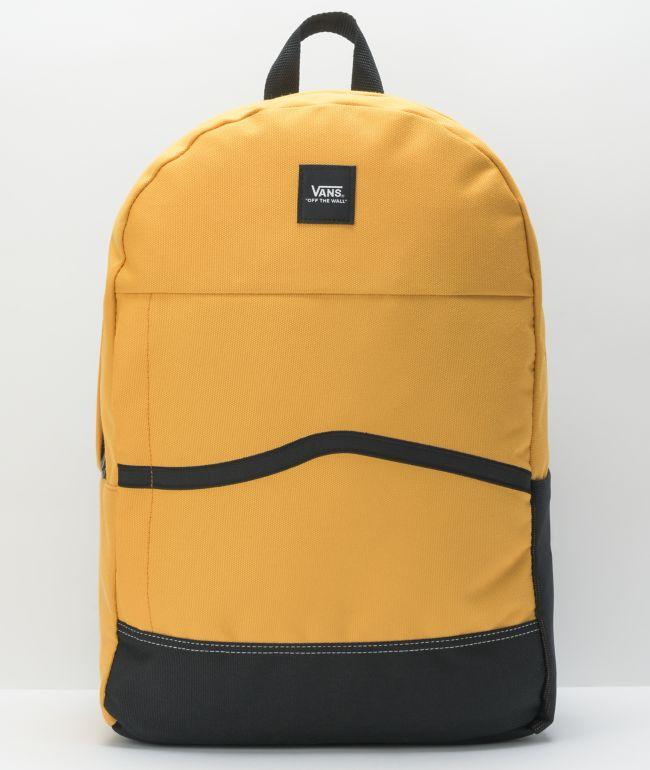 Vans Construct Yellow & Black Backpack