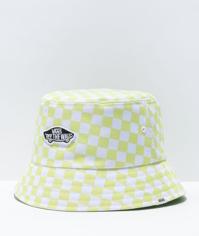 Vans Deluxe Hankley Green, White & Black Reversible Bucket Hat