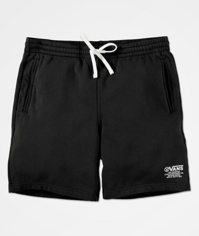 Vans Distort Type Black Sweat Shorts