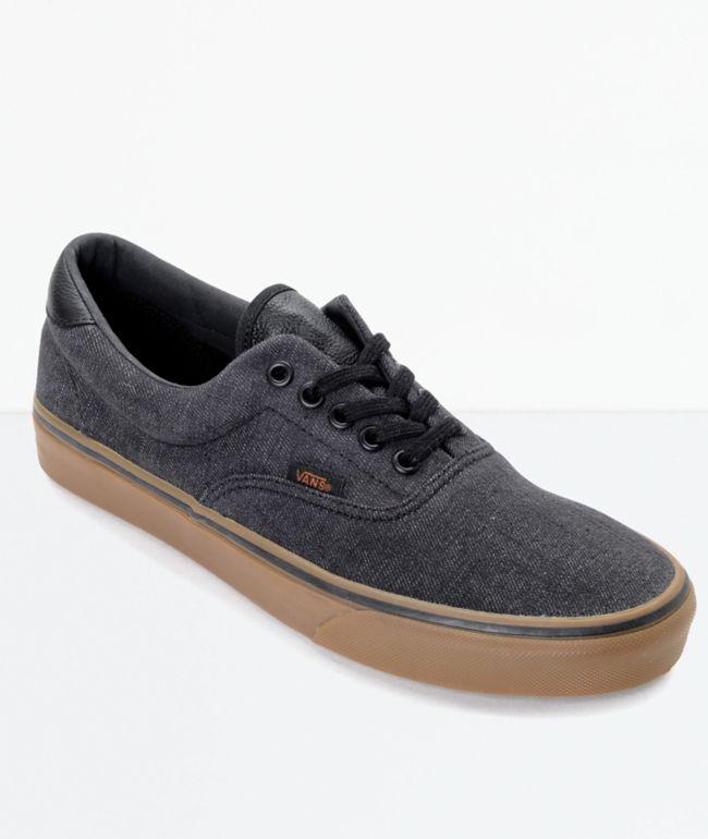 Vans Era 59 CL Black Denim & Gum Skate Shoes