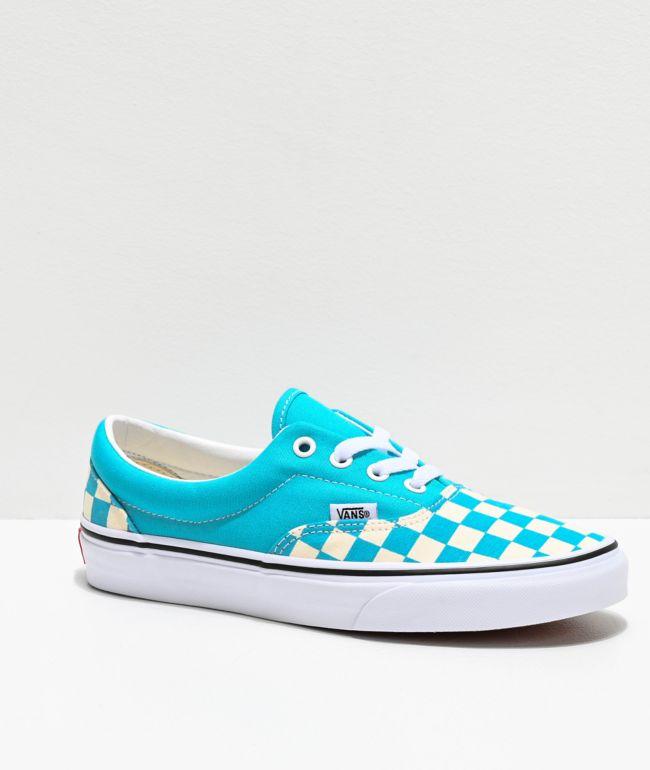 Vans Era Checkerboard Scuba Blue Skate
