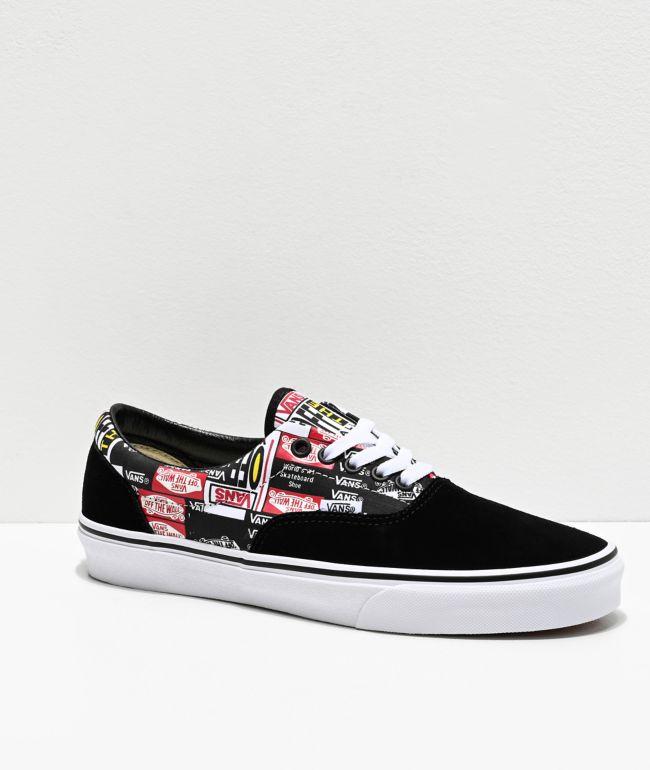 Vans Era Label Mix Black \u0026 White Skate