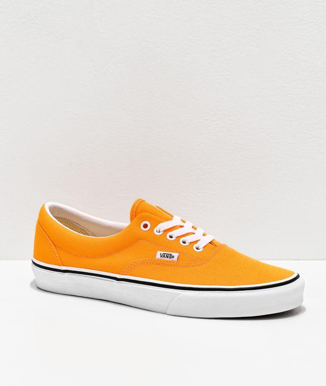 Vans Era Neon Blaze Orange & White Skate Shoes
