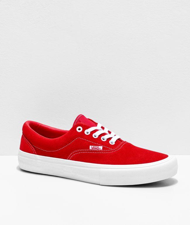 Vans Era Pro zapatos de skate de ante en rojo y blanco