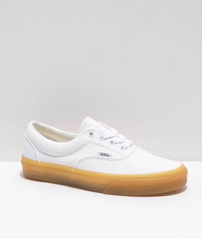 Vans Era White & Gum Skate Shoes