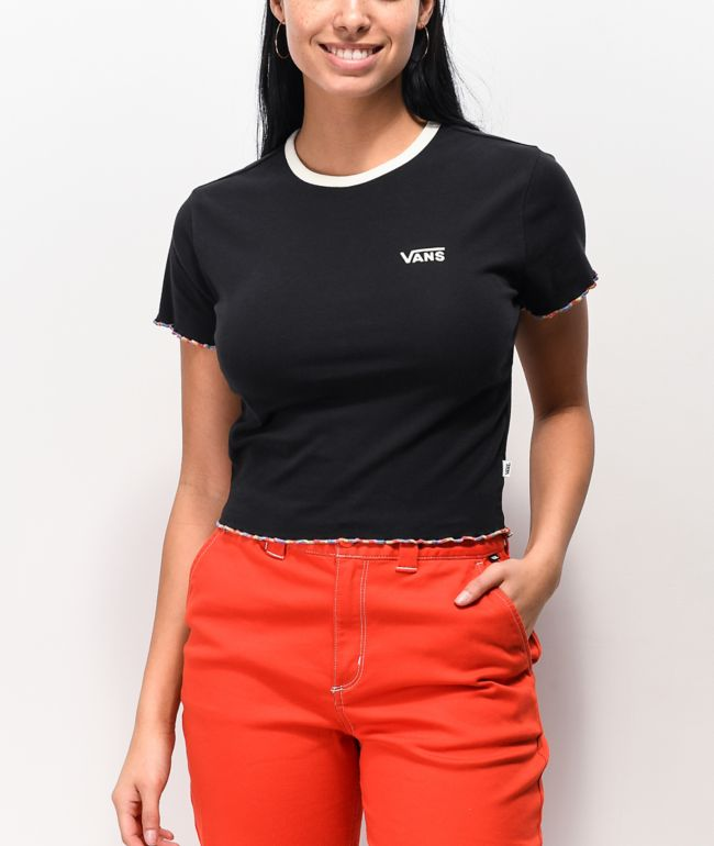 Vans Evertide Black Crop T-Shirt