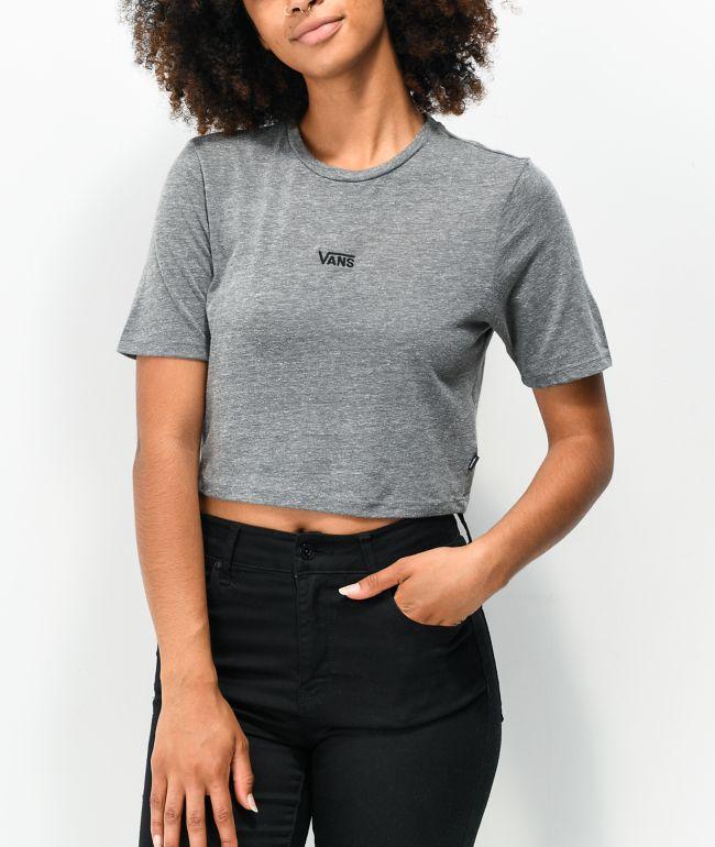 Vans Flying V Grey Crop T-Shirt