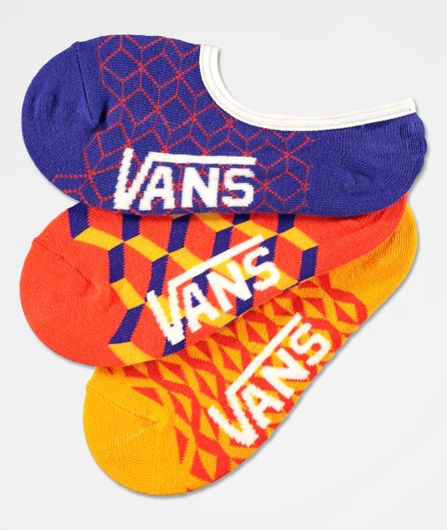 Vans Geo Canoodle 3 Pack No Show Socks