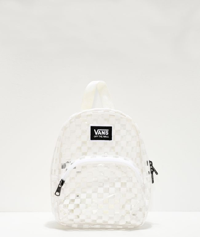 Vans Gettin It White & Clear Checkered Mini Backpack
