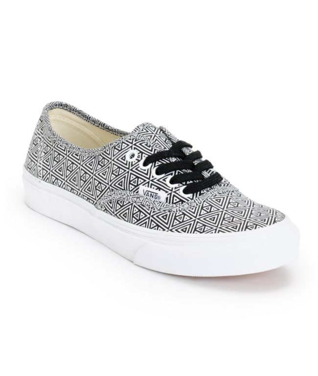 Vans Girls Authentic Slim Black \u0026 White