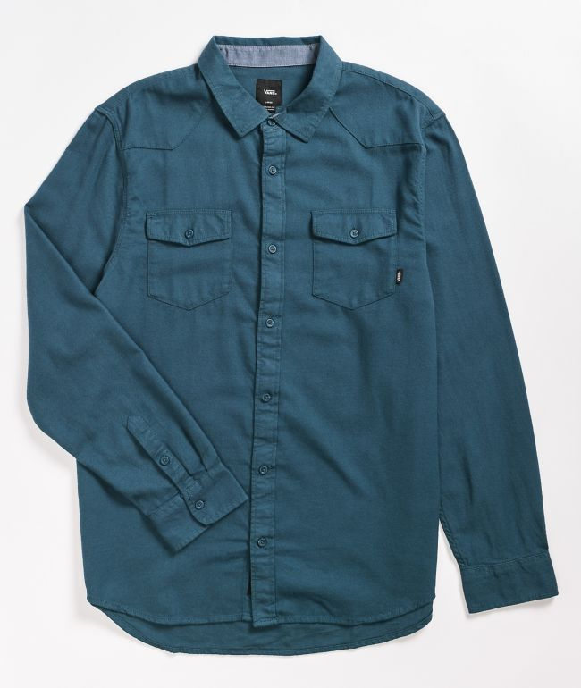 Vans Hereford Turquoise Flannel Shirt